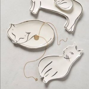 Anthropologie Pet Study Trinket Dish Cat Dish